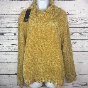 Jones NY Gold cowl neck sweater size Medium